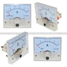 Analog Panel AMP Meter Voltmeter Gauge 85C1 GB/T7676-98 DC 0-30V/50V 0-5A/10A