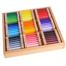 Montessori Sensorial Material Learning Color Tablet Box 1/2/3 Wood Preschool New
