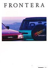 1994 Opel Frontera Isuzu German Sales Brochure