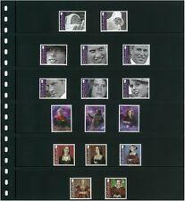 Lindner Einsteckblätter Omnia 6 Streifen in schwarz oder weiß im 10er Pack