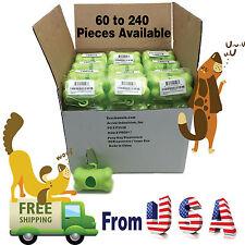 30, 60,120,180,240 Pieces EcoJeannie Dog Poop Bag Dispenser/Metal Carabiner Clip