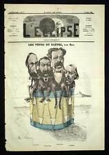 TAMBOUR VACQUERIE HUGO MEURICE Caricature de 1869