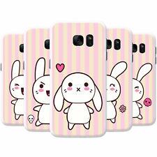 Funny & Cute Kawaii Pink Rabbits Hard Case Phone Cover for Samsung Phones
