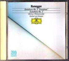 Herbert von KARAJAN: HONEGGER Symphony No.2 & 3 Liturgique BPO DG CD Sinfonien