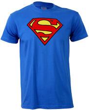 SUPERMAN  LOGO T Shirt Blue Man of Steel NEW OFFICIAL DC COMICS Mens S - 4XL