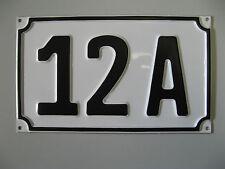 Hausnummer Hausnummern Aluminium inkl. Wunschprägung, max 3 Zeichen