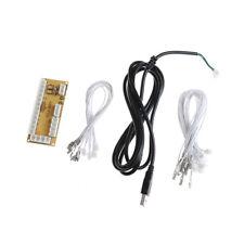 Zero Delay Arcade USB Encoder PC to Joystick Push Button +Cables For MAME jx