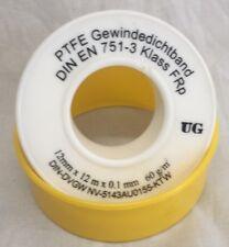 PTFE Teflon-Band 12m FRp Gewindeband Gewinde-Dichtband Dichtungsband 12mm DVGW