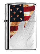 Zippo Fender Guitar estados unidos Flag a petición con personas. grabado 60000891 nuevo