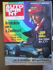 Autosprint 35 1978 Niki Lauda Mario Andretti Lotus
