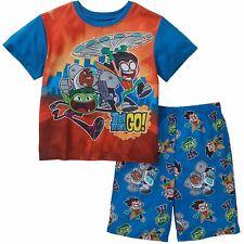 a9859202751a Teen Titans Go 2 PC Short Sleeve Pajama Set Boy Size 6 7