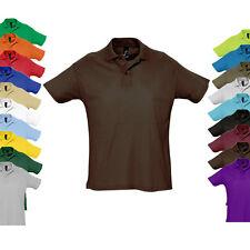 Sols Herren Kurzarm Polo Shirt SUMMER II Hemd Baumwolle XS S M L XL XXL Neu L512