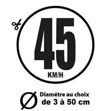 45 KM/H LIMITATION VITESSE BUS TRACTEUR POIDS LOURD ADHÉSIFS AUTOCOLLANT STICKER