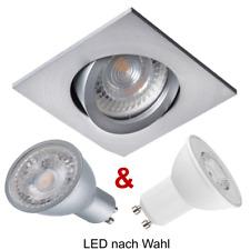 Einbaustrahler Aluminium LED mit LED Leuchtmittel 4,5 / 6  7Watt Decken Strahler