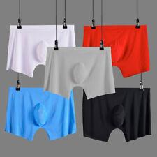 men underwear Boxer shorts Ice silk Seamless soft sexy male men's underpants
