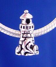 Beach Ocean Sea Travel Summer Silver European Charm Beads Personalized Bracelet