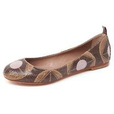 B4938 ballerina donna MALIPARMI scarpa marrone geometric whips shoe woman
