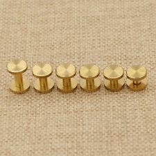 Schraubnieten Gürtelschrauben Buchschrauben Basteln Gold Messing Werkzeug DIY 5x