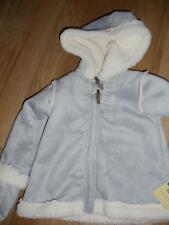 OshKosh Girls Grey Poodle Fleece Jacket Sz 24 Mos $42