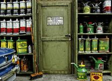Tür Stahltür Bürotür Diorama Deko Zubehör Tool 1/18 für Werkstatt Garage Scheune