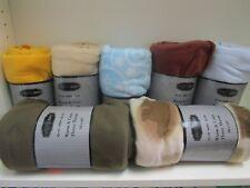 """Bristol Bay ~ Warm & Cozy Fleece Throw 50"""" x 60"""" Assorted Designs & Colors"""