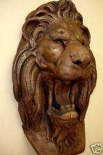 LION HEAD WALL DECOR ANTIQUE FINISH STATUE