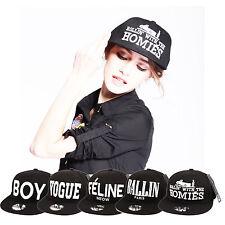 Boy london Thick 3D Embroidered Snapback Old School Flat Baseball Black Cap Hat