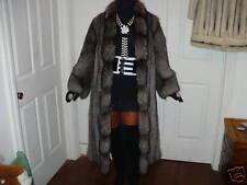 Mint Full length Silver fox Fur Coat Jacket S-M