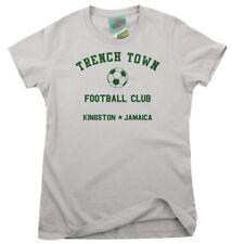 BOB MARLEY inspired TRENCH TOWN Football Club RINGER, Women's T-Shirt