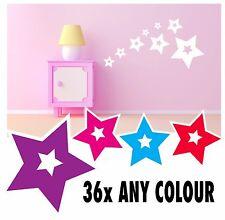 34 star stickers vinyl wall decals filles garçons chambre à coucher art fleurs