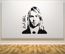 Kurt Cobain Nirvana PIOMBO CANTANTE MUSICA CANZONE Porta Muro Arte Adesivo Decalcomania Immagine