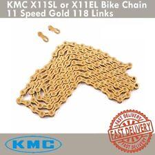 KMC X11SL X11EL Bike Chain Retail Pack 11 Speed Shimano/SRAM 118 Link Gold