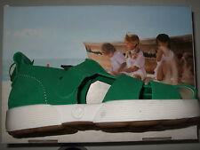 Naturino Sandalen Grün Verde Schnalle Leder Unisex Sandale 26-31 Rovesciato
