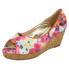 niña h1082 multi/Floral Sintético Zapatos de Spot On Al Por Menor