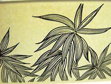 Don Blanding 1942 WISPY FLORIDA FLOWERS Art Deco Botanical Print Matted