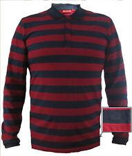 NWT HUGO (Hugo Boss Red Label) by Hugo Boss Long Sleeved Striped Polo Shirt Sz S