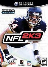 Nintendo Gamecube Sega Sports NFL 2K3 2002 NEW Video Game Brian Urlacher Cover