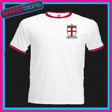 England World Cup 2018 Inspired Ringer Mens White T Shirt