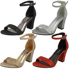 Mujer Deslumbrante de tacón Anne Michelle Boda/Fiesta Zapatos f10778