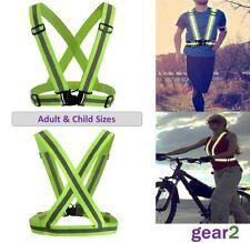Hi Viz Reflective Running Cycling Vest Belt High Visibility Mens Womens Children