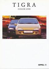 Opel Tigra Color Line Prospekt 5 97 brochure Auto PKW Deutschland Verkehr 1997