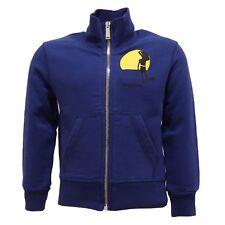 3935T felpa bimbo DSQUARED2 blu ful zip cotone sweatshirt kid 531cd24c0870