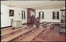 WINSTON SALEM NC Old Salem Single Brothers House Saal Chapel Organ Vtg Postcard