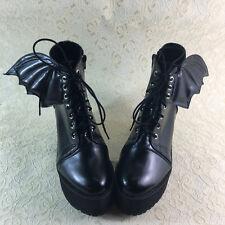 Teufel Gothic Goth Punk Bat Vampir Damen Schuhe Stiefel Stiefeletten Kostüm Cool