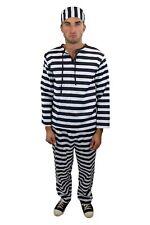Traje Traje de Hombres Convicto Preso Knasti Knacki Verbrecher Cárcel L014