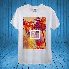 Beach Party Summer Palms Orange Sunset T-shirt 100% Cotton unisex women