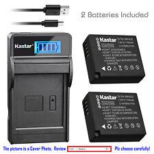 Kastar Battery LCD USB Charger for Panasonic DMW-BLE9 DMW-BLG10 & Lumix DMC-GF3