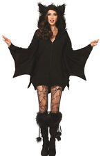 Bat Cozy Adult Women's Costume Zipper Front Fleece Fancy Dress Leg Avenue