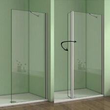 1950 Wet Room Shower Enclosure Walk In Flipper Panel 8mm EasyClean Glass Screen