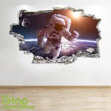 Astronauta adhesivo pared 3d Aspecto - luna planeta Galaxy Estrellas Niños